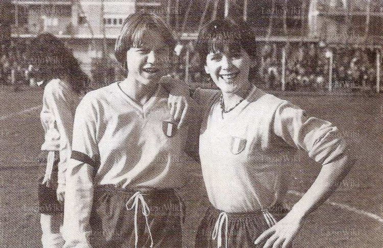 Lazio's Anne O'Brien (right) Image: LazioWiki