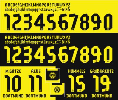 BorussiaDort20Borussia Dortmund Puma Gaffer Typeface12-13-FNTPUMA
