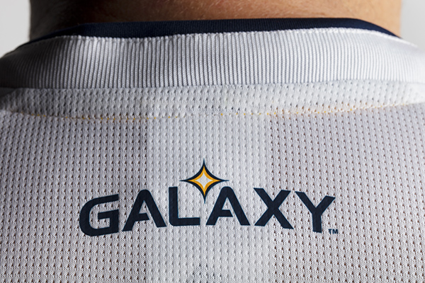 2018 Season: 2018 LA Galaxy Primary Jersey in detail on January 6, 2018. Photo by Robert Mora/LA Galaxy. --- www.LAGalaxy.com --- @LAGALAXY