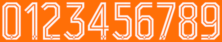 Netherlands 2014 World Cup back numbers