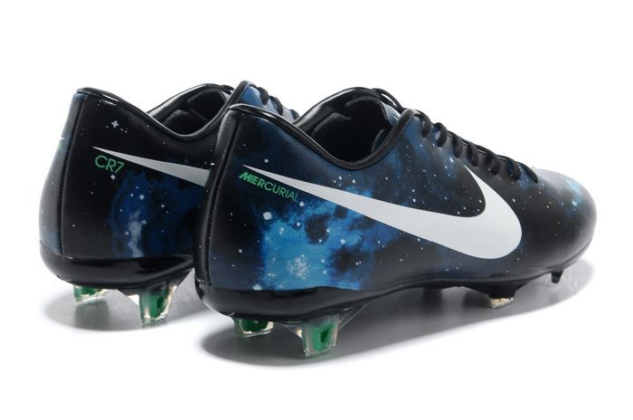 Nike Mercurial Vapor IX CR7 Limited Edition FG Cleats - Black White Blue Galaxy_02
