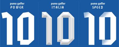 Borussia Dortmund Puma Gaffer Typeface