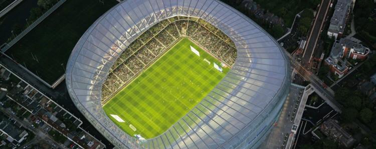 aviva stadium aerial
