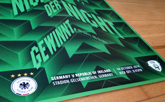 Germany V Ireland Poster