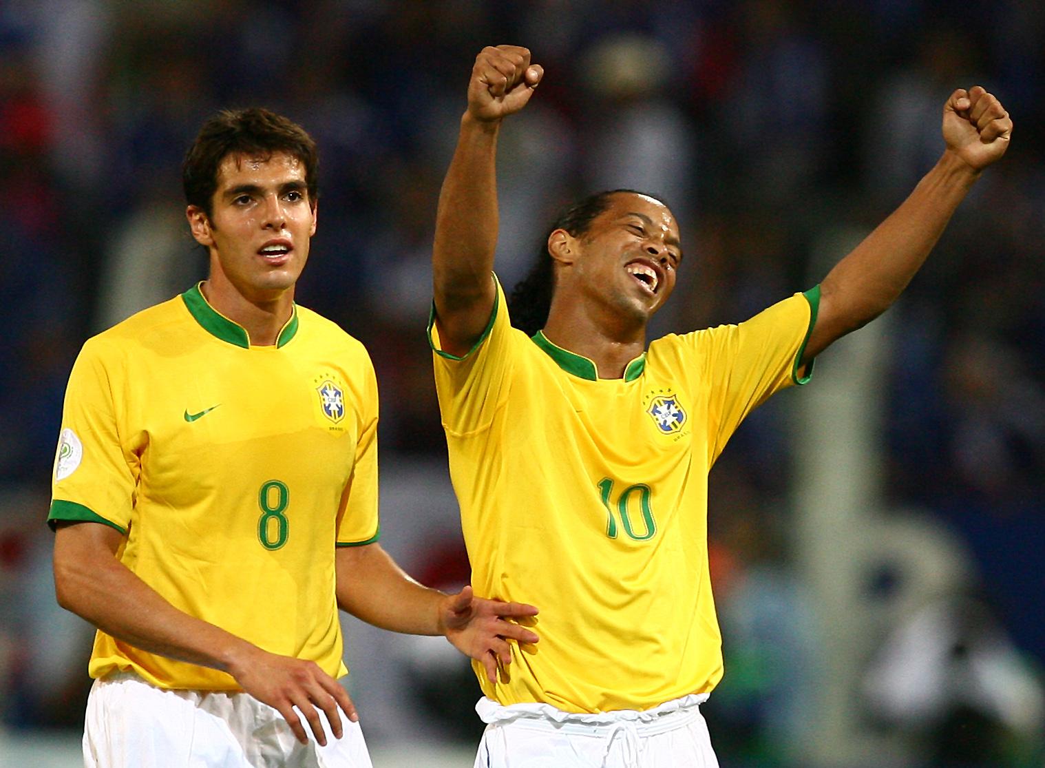 WM 2006 - Ronaldinho und Kaka jubeln